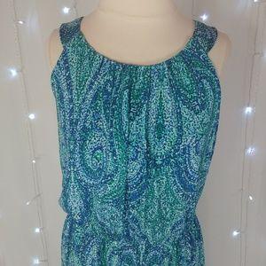 Enfocus Studio Dresses - Enfocus Studio Blue & Green Maxi Dress